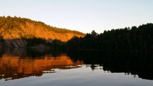 Sunset in Bon Echo