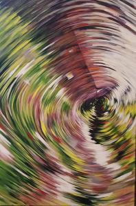 Around the Barn 2017 48 x 36 Acrylic