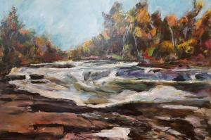Irondale Falls 2017 Acrylic 24 x 36