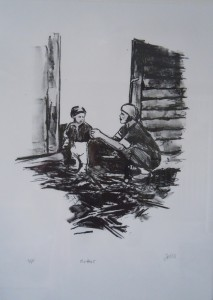 Mother 2013 Lithograph 15x11