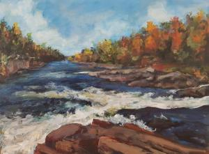 Recolette Falls 2017 Acrylic  18x 24