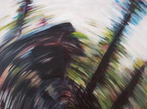 Spin Through the Bridge 2018 36x48 Acrylic