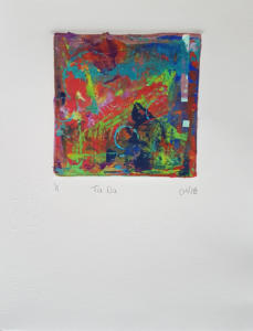Ta Da Monoprint 9x7 2018